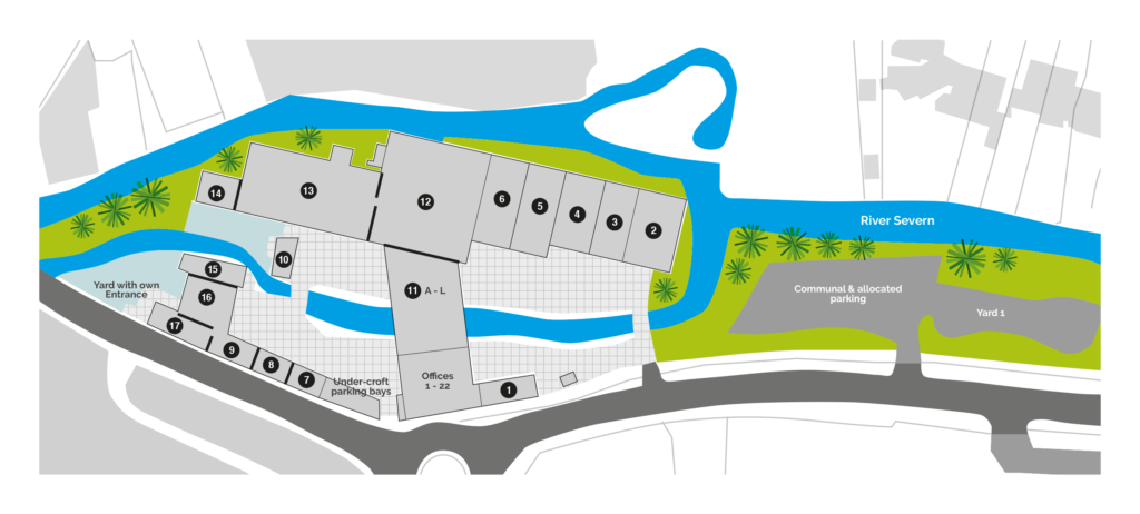 Riverside business Centre map