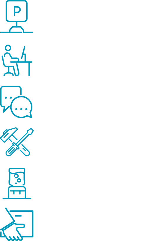 Individual offices, Ample parking, meeting rooms, workshops, Amenity areas, Distribution units